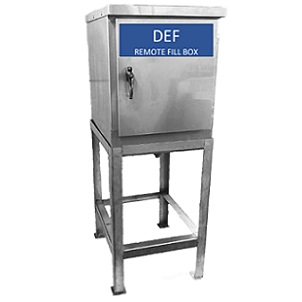 Model 1955-DEF - Stainless Steel Remote Fill/Pre-Piped Fill Box for DEF